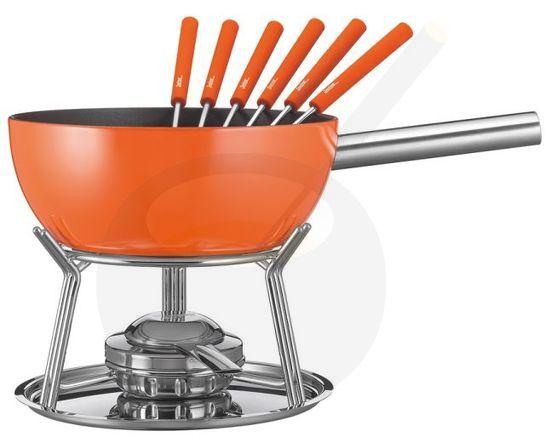 k se fondue set spring alu induktion orange online kaufen. Black Bedroom Furniture Sets. Home Design Ideas