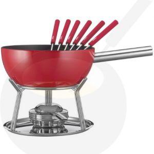 Käse-fondue set Spring Alu Induktion Rot
