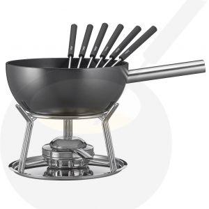 Käse-fondue set Spring Alu Induktion Schwarz