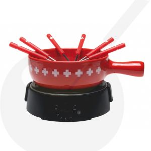 Elektrisches Käsefondue-Set - Swiss Red