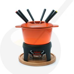 Sierra 11 PC Gusseisen Fondue-Set Orange