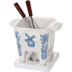 Boska Tapas Schokoladenfondue Set - Käsefondue Set Delft Blau