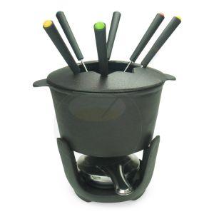 Gusseisen Fondue-Set Schwarz - 1 Liter