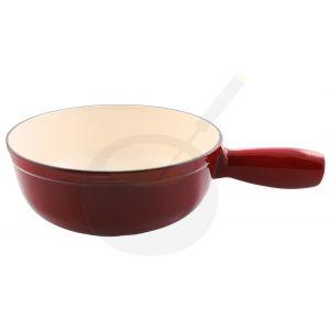 Käsefonduetopf Rot aus emailliertem Gusseisen einzeln