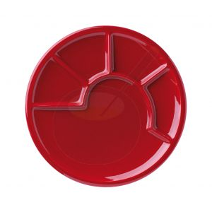 Fondueteller - Rot mit platter
