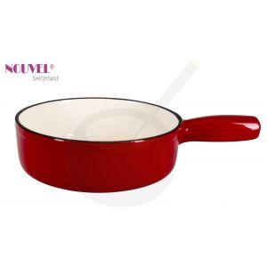 Fonduepan rood/wit - 20cm Ø