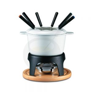 Sierra 11 PC Cast Iron Fondue Set Weiß