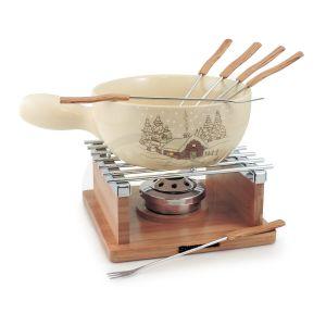 Swissmar Chalet 10-teiliges Fondue-Set aus Keramik